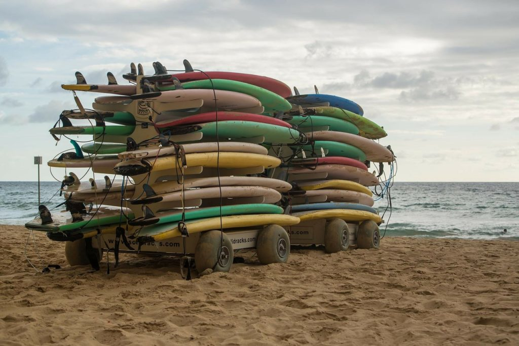 Surfboards at Manly Beach